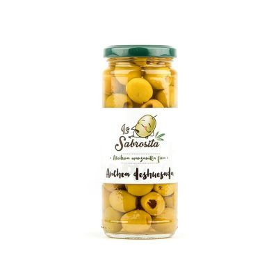 Pitted Manzanilla Olives Anchovy Flavour 170 g