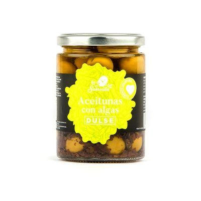 Whole Manzanilla Olives with Dulse Seaweed 190 g