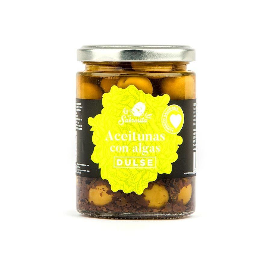 Whole Manzanilla Olives with Dulse Seaweed 190 g