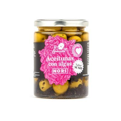 Whole Manzanilla Olives with Nori Seaweed 190 g