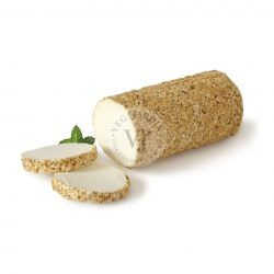 rulo de queso de cabra con almendra crocanti