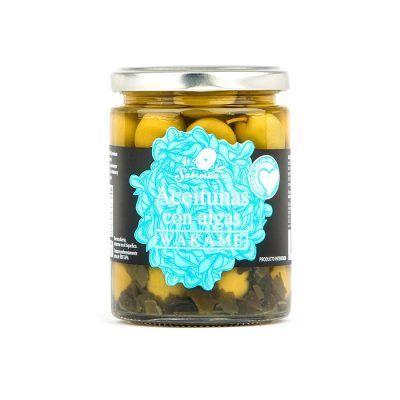 Whole Manzanilla Olives with Wakame Seaweed 190 g