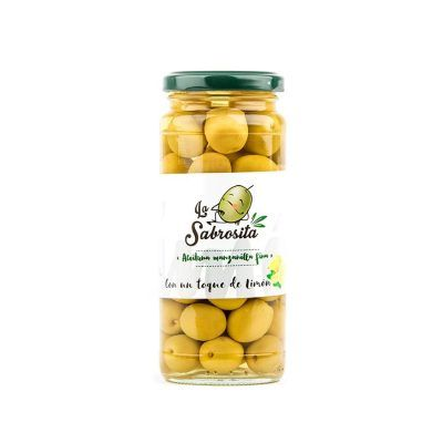 Whole Manzanilla Olives Lemon Flavour 195 g
