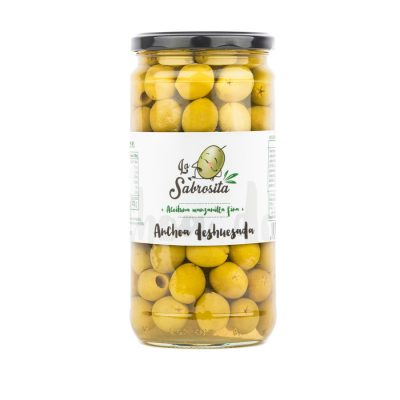 Pitted Manzanilla Olives Anchovy Flavour 350 g