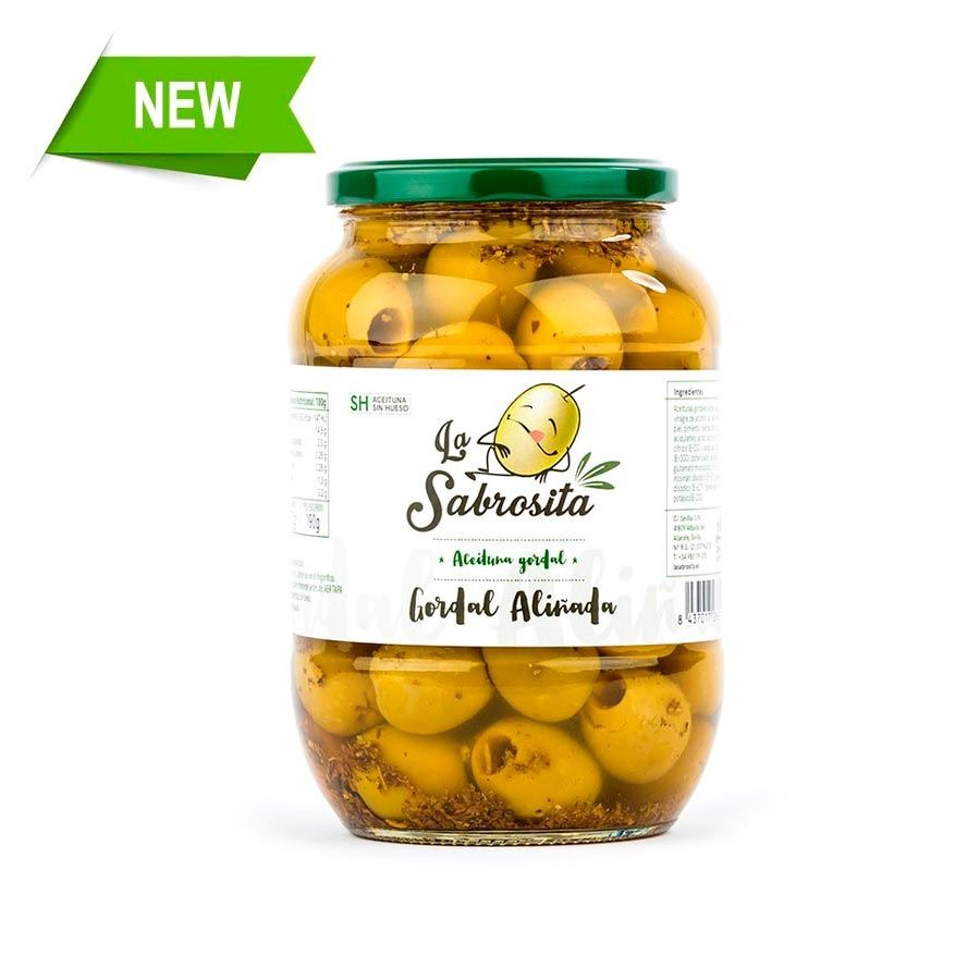 Pitted Gordal Chef Seasoned Olives 400 g